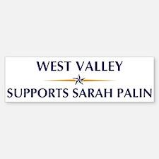 WEST VALLEY supports Sarah Pa Bumper Bumper Bumper Sticker