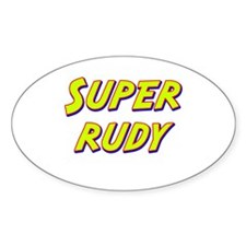 Super rudy Oval Decal