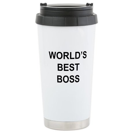 """World's Best Boss"" Stainless Steel Travel Mug"