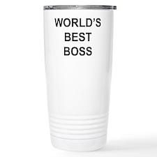 """World's Best Boss"" Travel Coffee Mug"