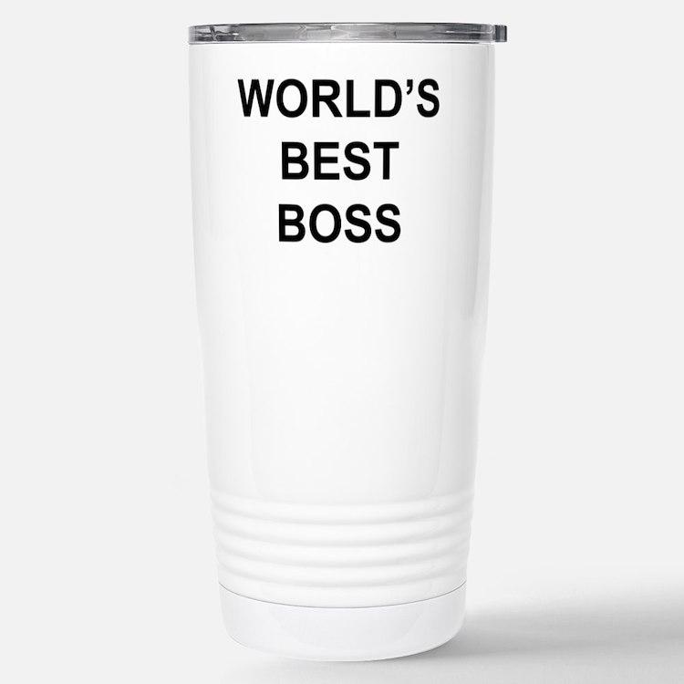 """World's Best Boss"" Travel Mug"