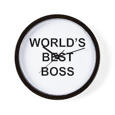 """""""World's Best Boss"""" Wall Clock"""