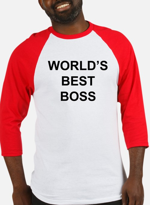 """World's Best Boss"" Baseball Jersey"