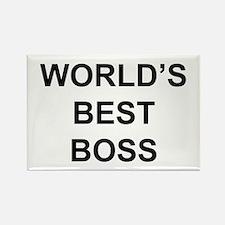 """""""World's Best Boss"""" Rectangle Magnet"""