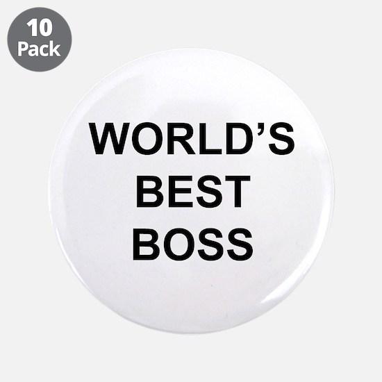 """""""World's Best Boss"""" 3.5"""" Button (10 pack)"""