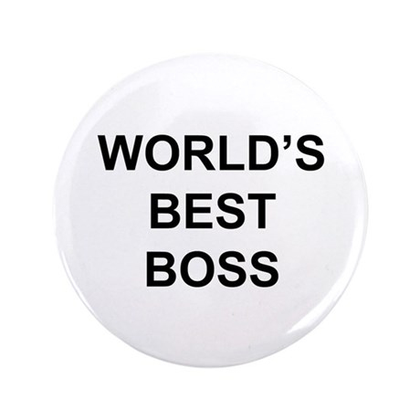 """World's Best Boss"" 3.5"" Button (10"