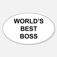"""World's Best Boss"" Oval Decal"