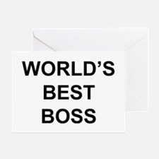 """World's Best Boss"" Greeting Card"