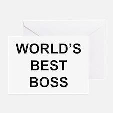 """World's Best Boss"" Greeting Cards (Pk of 20)"
