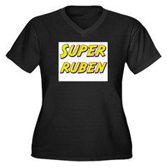 Super ruben Women's Plus Size V-Neck Dark T-Shirt