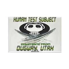 Human Test Subject Dugway Rectangle Magnet