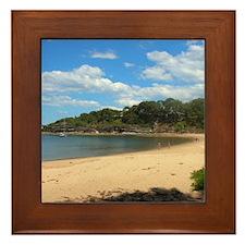 Sunny Pearl Beach, NSW Framed Tile