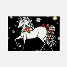 """Silent Night"" Christmas Horse Rectangle"