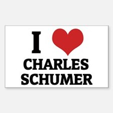 I Love Charles Schumer Rectangle Decal