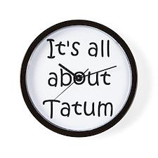 Funny Tatum Wall Clock