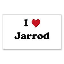 I love Jarrod Rectangle Decal
