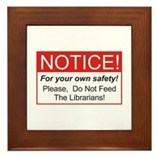 Notice / Librarians Framed Tile