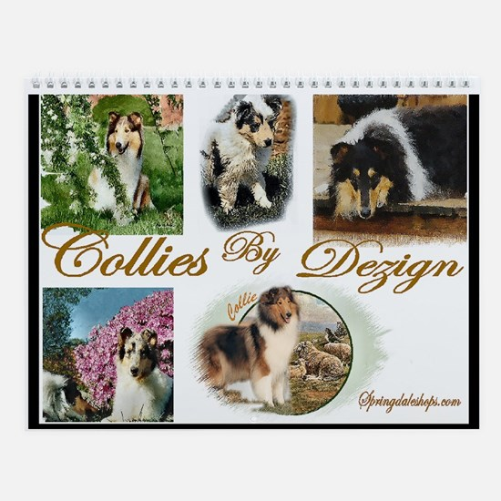 Rough Collies Art Yearly Wall Calendar