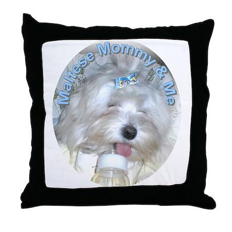 Maltese Mommy & Me Throw Pillow
