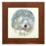 Maltese Mommy & Me Framed Tile