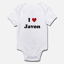 I love Javon Infant Bodysuit
