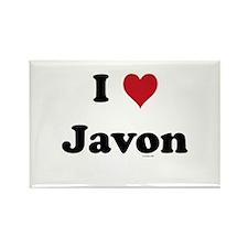 I love Javon Rectangle Magnet