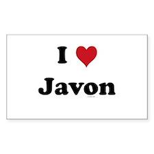 I love Javon Rectangle Decal