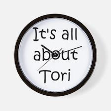 Funny Tori Wall Clock
