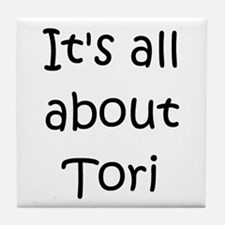 Unique Name tori Tile Coaster