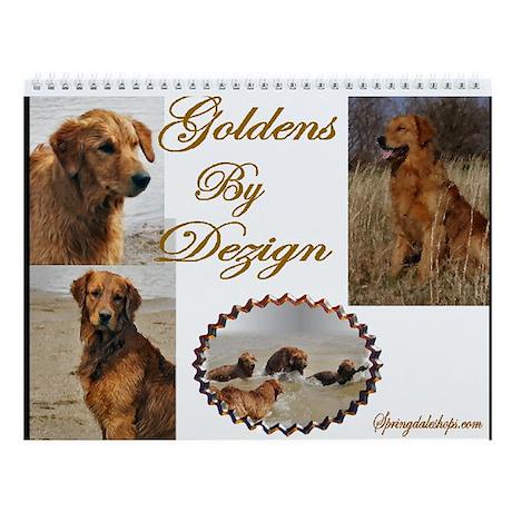 Golden Retriever Art Wall Calendar