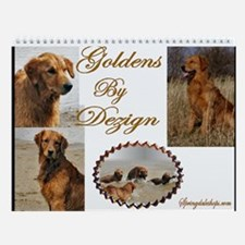 Golden Retriever Art Wall Calendar