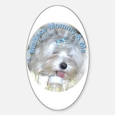 Maltese Mommy & Me Oval Decal