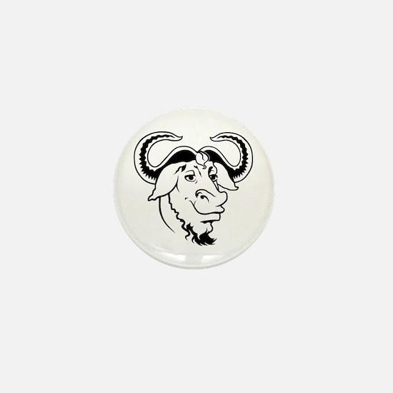 GNU Mini Button