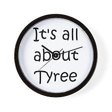 Funny Tyree Wall Clock