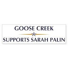 GOOSE CREEK supports Sarah Pa Bumper Bumper Bumper Sticker