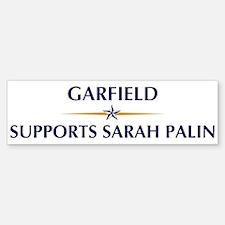 GARFIELD supports Sarah Palin Bumper Bumper Bumper Sticker