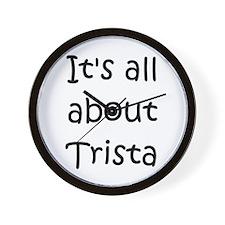 Funny Trista Wall Clock