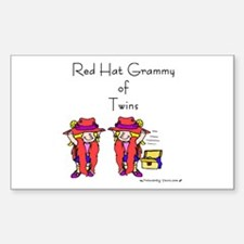 Red_Hat_Grammy_Twins Rectangle Decal