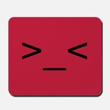 Frustrated Smiley Emoticon Mousepad