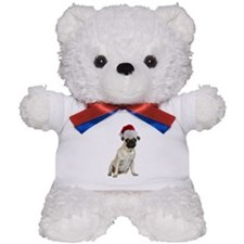Christmas Pug Teddy Bear