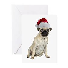 Christmas Pug Greeting Cards (Pk of 10)