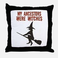 Ancestor Witches Throw Pillow