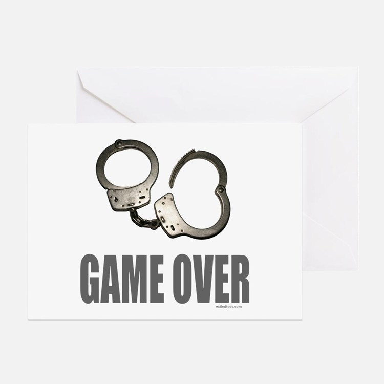 HANDCUFFS/POLICE Greeting Card
