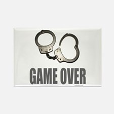 HANDCUFFS/POLICE Rectangle Magnet (10 pack)