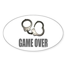 HANDCUFFS/POLICE Oval Decal
