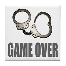 HANDCUFFS/POLICE Tile Coaster