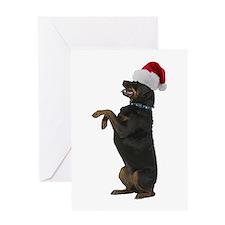 Santa Rottweiler Greeting Card