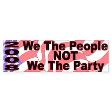 Patriotic Bumper Car Sticker