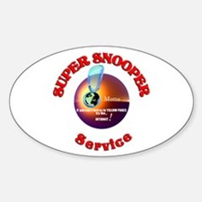 Super Snooper Agency. Oval Decal