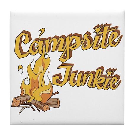 Campsite Junkie Tile Coaster